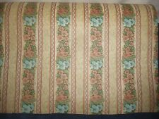 Vtg By YD Bolt Department Store Wrapping Paper Brown Blue Flowers Floral Stripe