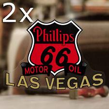 2x Stück Phillips 66 Las Vegas Aufkleber Sticker Autocollante Pegatina Hot Rod