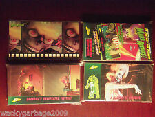 1996 Topps MARS ATTACKS! Wide Vision Movie Card Set With Promo Card - Very Nice!