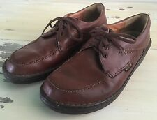 MEPHISTO: Mens Vtg Hip Hop Brown Leather Walking Shoes, Mobils Air Relax, Sz 8.5