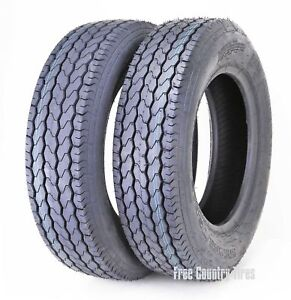 2 New Free Country Trailer Tire ST205/75D14 205 75 14 F78-14 Bias 6PR LRC