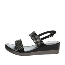 Sandalo Cinzia soft Microfibra Donna Nero Iad20936