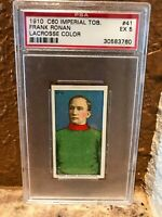 1910 C60 ITC Lacrosse Color 41 Frank Ronan PSA 5 Pop 3/0^ Nice Centering, Colors