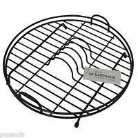 Delfinware Black Plastic Coated Circular/Round Dish Plate Drainer Rack