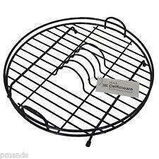 Delfinware Nero in Plastica Rivestito Circolare/piastra rotonda dish rack drainer