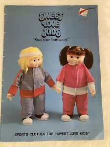 Sweet Love Kids 16 18 inch doll clothing sewing patterns Sports Clothes 1980s