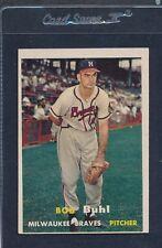1957 Topps #127 Bob Buhl Braves VG/EX 57T127-111515-3