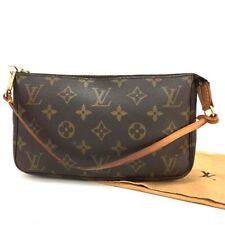 100% Auth Louis Vuitton Monogram Pochette Accessories Pouch Hand Bag /e474