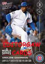 TOPPS NOW CARD 648A: AROLDIS CHAPMAN COMPLETES FIRST CAREER 8-OUT SAVE FOR GM 5