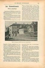 Maison de Campagne de Camille Desmoulins à Bourg-la Reine GRAVURE OLD PRINT 1909
