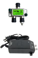 DIRECTV 21V POWER INSERTER SUPPLY + 2-WAY SPLITTER GREEN LABEL PI21R2 SWM 8 16