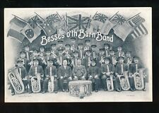 Music Lancs Manchester BESSES O'TH BARN BAND c1920/30s? PPC