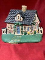 Vintage Cast-Iron Cape Cod Cottage Doorstop  E403