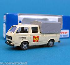 Roco H0 1464 VW T3 DoKa Pritsche Plane ASB Arbeiter Samariter Bund OVP HO 1:87