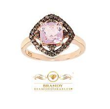 Brandy Diamondorables® Chocolate Brown 18K Rose Silver Pretty In PInk Ring
