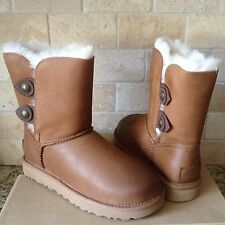 UGG Classic Short Marciela Chestnut Leather Sheepskin Boots US 11 Womens 1014763