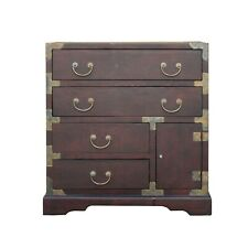 Oriental Asian Metal Hardware Chest of Drawers Cabinet ws473