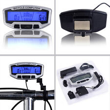 LCD Bicycle Bike Cycling Computer Odometer Speedometer Velometer With Backlight