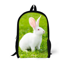 White Rabbit Ladies Womens Cute School College Backpack Rucksacks Bag Pack Girls