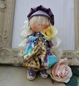 Rag doll handmade in the UK Tilda doll Ooak doll Art doll MANDY 8 inch tall