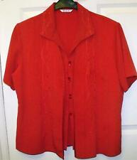 EXCELLENT QUALITY BERKERTEX RED 2 IN 1 STYLE TOP ~ BLOUSE SIZE 20  # *55
