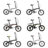"20"" Folding Mountain Bike Front Suspension 6/7 Speeds Sports Bicycles Shimano"