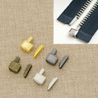10 Pcs 8# Metal Zipper Stopper Repair Open End Sewing Tailor Tool Acessories Zip