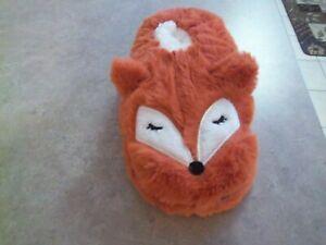 New w/Tag - Women's Fuzzy Babba Rust/Brown Fox Slipper Socks M/L 7 - 9.5