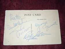 The Beatles Authentic Autographs/ Signed 2/05/64 BEA Paris Flight To Heathrow!!!