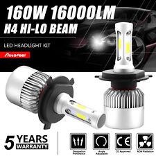 160W 16000LM H4 9003 HB2 Philips LED Headlight Hi/Lo Beam Bulbs Kit High Bright