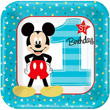 MICKEY MOUSE Fun to Be One SMALL PAPER PLATES (8) ~ Birthday Party Supplies Cake