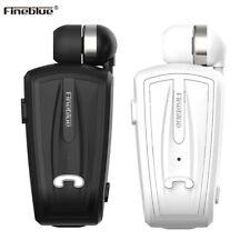 Headphones Fineblue Retractable Wireless Clip Telescopic Headset Handfree In-ear