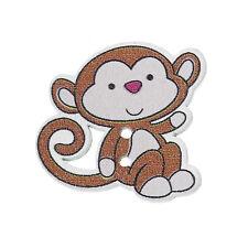 10 Wooden Novelty Chimpanzee Monkey Sewing Craft Buttons 29mm Free UK P&P