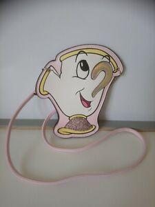 Petit sac pochette bandoulière zip la belle et la bête Disney