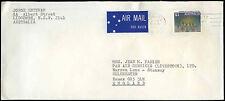 Australia 1988 cubierta aéreo comercial a Reino Unido #c 33221