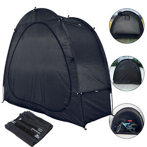 Black Bike Storage Tent Bicycle Garage Shed Cover Outdoor Camping Travel Tent AU