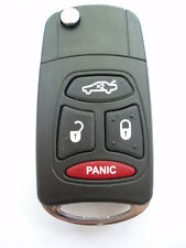 3 + 1 panic button flip key case upgrade for Chrysler Dodge Jeep remote key fob