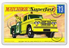 MATCHBOX SUPERFAST 13 DODGE  WRECK TRUCK BOX ARTWORK NEW JUMBO FRIDGE MAGNET