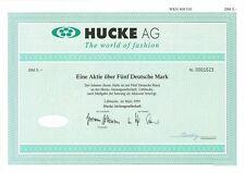 Aktie Hucke AG 5 DM 1995 Lübbecke mit Restkupons