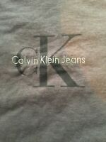 Vintage Calvin Klein CK Logo Spell Out Gray T-Shirt Size Men's M
