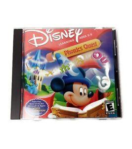 Disney Scholastic Phonics Quest Age 5-8 Windows/ Mac Interactive Learning CD