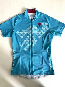 Gore Wear Womens Breathable Short Sleeve Road Bike Jersey Blue Size: EU36 Small