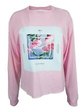 Me! Taylor Swift Square Pink Long Sleeve Crop Top