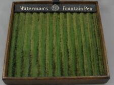 Waterman's Original 1920's Fountain Pen 12-Pen Display Tray - Wood & Green