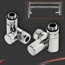 Dual Fuel Valve Set for Towel Rails To Run On Central Heating and Electric