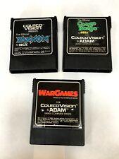 3 Coleco-vision Games, Zaxxon, donkey kong, Wargames
