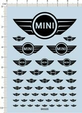 Decals BMW MINI for 1/18 1/20 1/24 or other different scales (black) 00325
