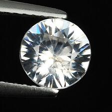 1.47 CT EXCELLENT UNHEATED ROUND DIAMONDCUT NATURAL WHITE ZIRCON LOOSE GEMSTONES