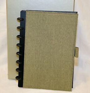 Levenger Circa Bookcloth Foldover Notebook Green RARE