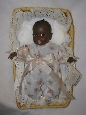 "All Original 12"" Black Gerber Baby Doll In Basket"